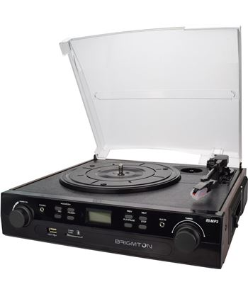 Brigmton tocadiscos cassette grabador BRIBTC_406REC