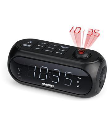 Radio reloj despertador Daewoo dcp-490 proyección negro DAEDBF235