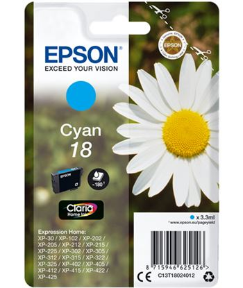 Epson C13T18024012 tinta cian 18 claria home eps Consumibles - EPSC13T18024012