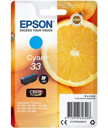 Tinta Epson 33 claria premium cyan EPSC13T33424012