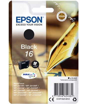 Tinta negra Epson 16 durabrite EPSC13T16214012 Consumibles - EPSC13T16214012