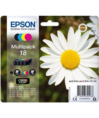Multipack tinta 4 colores Epson 18 claria home C13T18064010