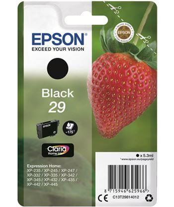 Tinta Epson 29 claria home negro C13T29814012 Perifericos y accesorios