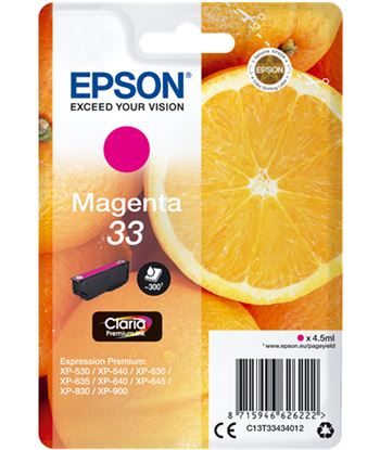Tinta Epson 33 claria premium magenta EPSC13T33434012