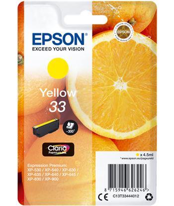 Tinta Epson 33 claria premium amarillo EPSC13T33444012