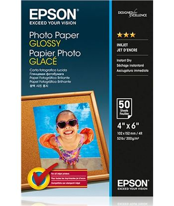 Papel Epson photo glossy 10x15 50 hojas EPSC13S042547