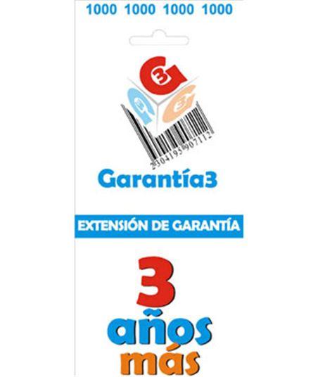 Para productos hasta 1000eur. extensión de garantía de tres años adicionales