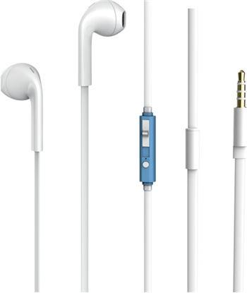 Auriculares boton Vivanco 25188 microfono blanco/azul V25188