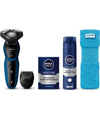 Philips-pae máquina de afeitar philips s5073/62 + pack nivea s5073_62