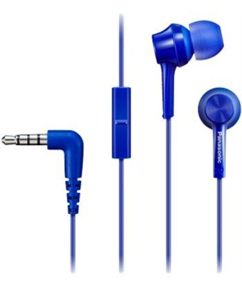 Auriculares boton Panasonic rp-tcm115e-a wings con microfono azul RPTCM115EA