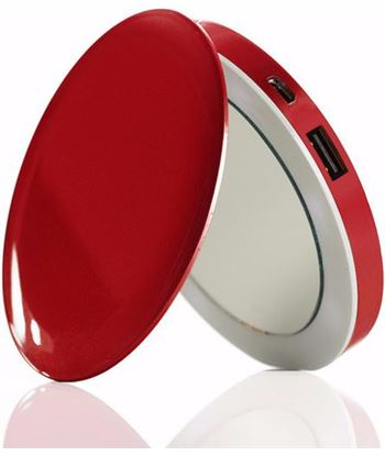 Nuevoelectro.com espejo power bank hyper pearl red usb 3000mah 115171 - 115171