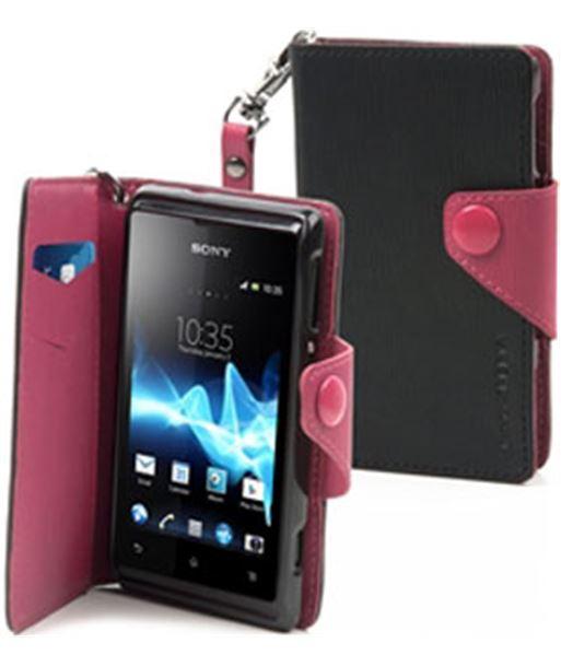 Funda wallet folio negra/rosa Sony xperia e SEWAL0001 - 3700615070098