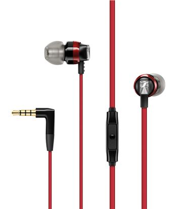 Auriculares boton Sennheiser cx300s microfono control remoto rojo 508595