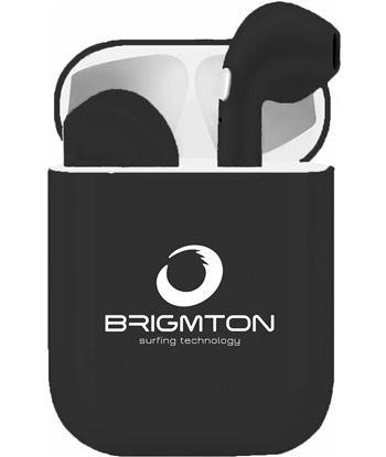 Auriculares inalámbricos bluetooth true wireless Brigmton bml18 negros BML18N