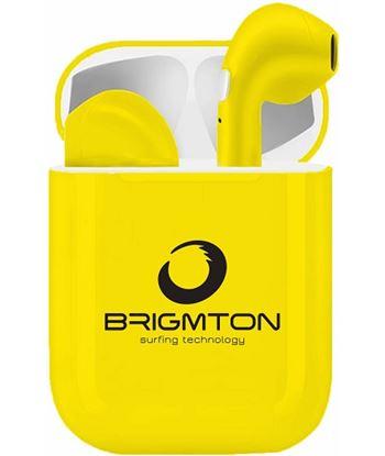 Auriculares boton Brigmton bml-18-b bluetooth amarillos BML18Y