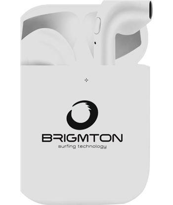 Auriculares boton Brigmton bml-18-b bluetooth blancos BML18B