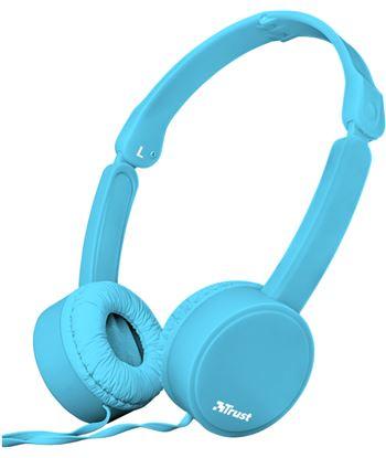 Auriculares diadema Trust nano summer micrófono manos libres plegables azul 23100