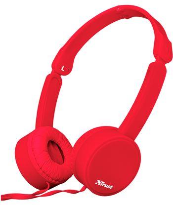 Auriculares diadema Trust nano summer micrófono manos libres rojos 23105