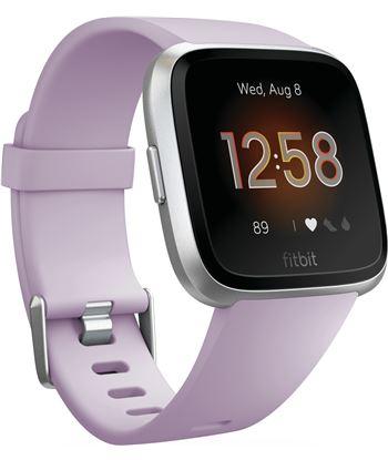 Fitbit versa lite lila plata smartwatch reloj deportivo con pantalla táctil FB415SRLV VERSA