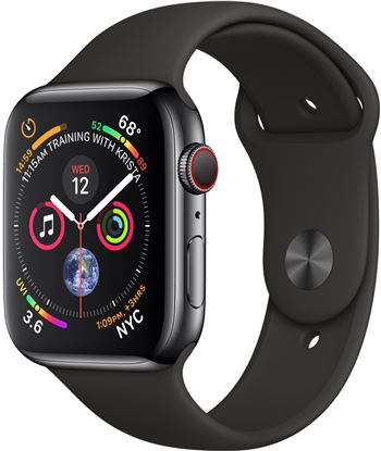 Apple watch series 4 negro espacial con correa loop negra reloj 44mm smartw S4 MTX22TY/A 44