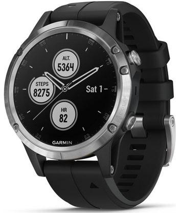 Garmin FÉNIX 5 PLUS PLata con correa negra 47mm smartwatch premium multidep