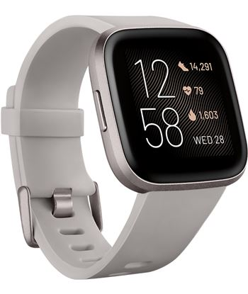 Fitbit FB507GYSR VERSA 2 piedraire acondicionado luminio smartwatch reloj de salud y forma