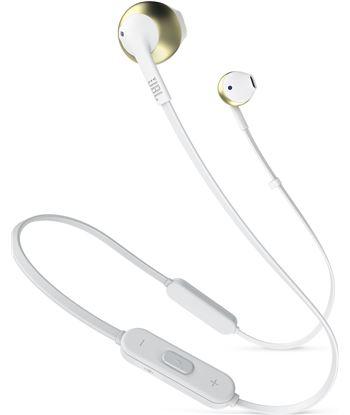 Jbl t205bt blanco cromo auriculares ergonómicos con micrófono integrado con T205BT WHITE CH