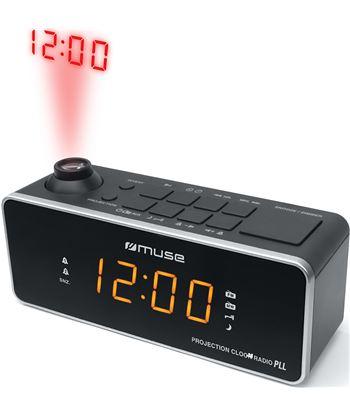 Muse M-188 P negro radio analógica sobremesa fm/am snooze con proyector de