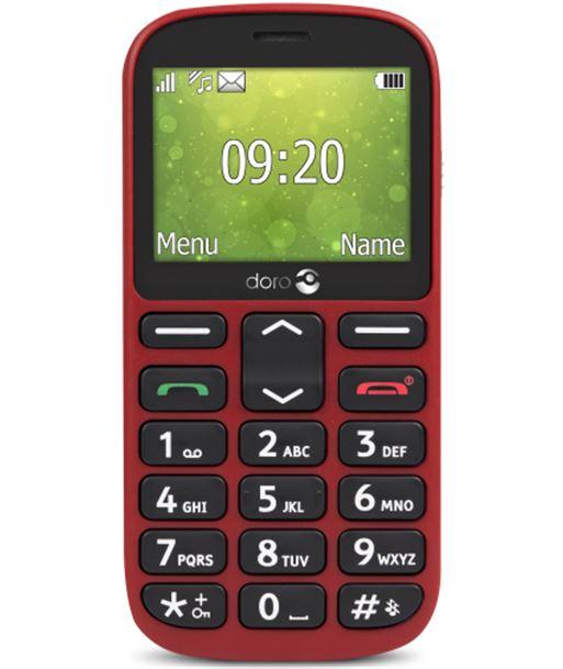 Nuevoelectro.com doro 1361 rojo m?vil senior dual sim 2.4'' c?mara 2mp bluetooth radio fm mi - +98646