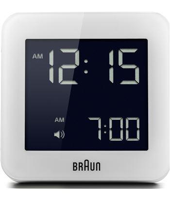 River reloj despertador digital blanco braun bnc009whwh