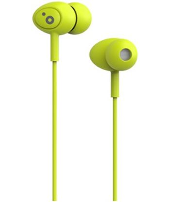 Auriculares boton Sunstech pops microfono verde POPSGN