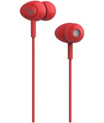 Auriculares boton Sunstech pops microfono rojo POPSRD