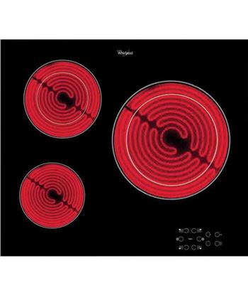 Vitrocerámica  elect negro Whirlpool akt8030_ne 3z 60cm AKT8030NE
