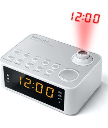 Muse M-178 PW blanco radio despertador am/fm con altavoz integrado y proyec