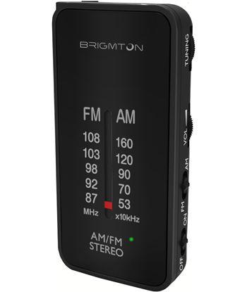 Brigmton BT-224-N negro radio am/fm analógica portátil a pilas
