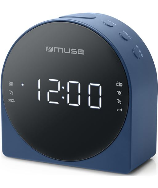 Muse M-185 CBL azul radio despertador am/fm con altavoz integrado - +21466