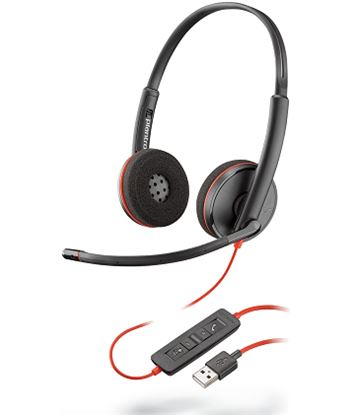 Auriculares Plantronics blackwire c3200 - binaural - micrófono con cancelac 209745-101