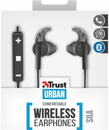 Auriculares deportivos bluetooth Trust urban sila black/white - mando a dis 21709