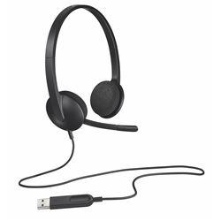 Auricular diadema con micrófono Logitech h340 - 20hz-20000hz - usb - cable 981-000475