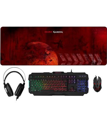Nuevoelectro.com combo pack mars gaming mcprgb - teclado rgb usb - ratón óptico 4000dpi rgb