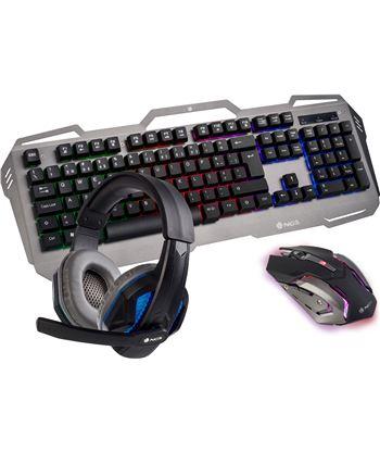 Pack gaming Ngs GBX-1500 - teclado rgb usb - ratón óptico 2400dpi usb - aur