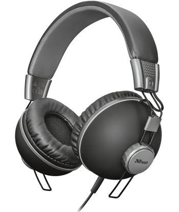 Auriculares diadema Trust urban noma headphones matte black - 32ohm - omnid 22578