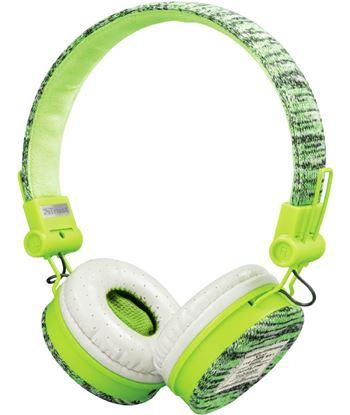 Auriculares Trust urban fyber sports green - gran calidad sonido - plegable 22646
