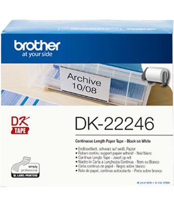 Cinta continua adhesiva de papel térmico Brother DK22246 - blanca - 103mm a