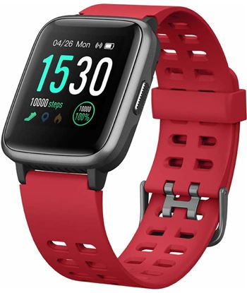 Reloj inteligente Leotec multisport fit 814 rojo - pantalla color 3.3cm - b LESW53R