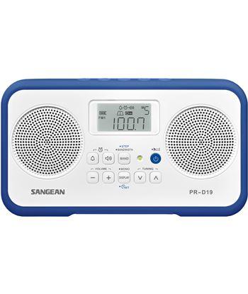Sangean pr-d19 blanco azul oscuro radio digital portátil fm am pantalla lcd PR-D19 DARK BLU