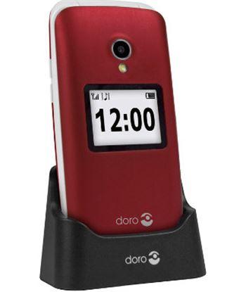 Nuevoelectro.com doro 2424 rojo blanco m?vil senior 2.4'' pantalla de notificaciones c?mara