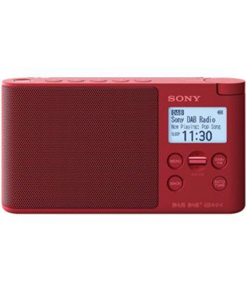 Sony XDR-S41D ROJO radio dab/dab+ portátil con pantalla lcd presintonías di