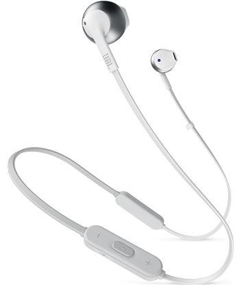 Jbl t205bt blanco plata auriculares ergonómicos con micrófono integrado con T205BT WHITE SI