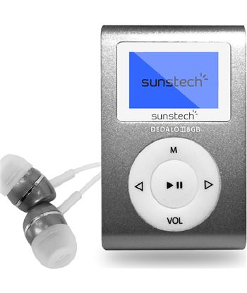 Reproductor mp3 Sunstech dedaloiii 8gb grey - pantalla 2.79cm - fm 20 presi DEDALOIII8GBGY
